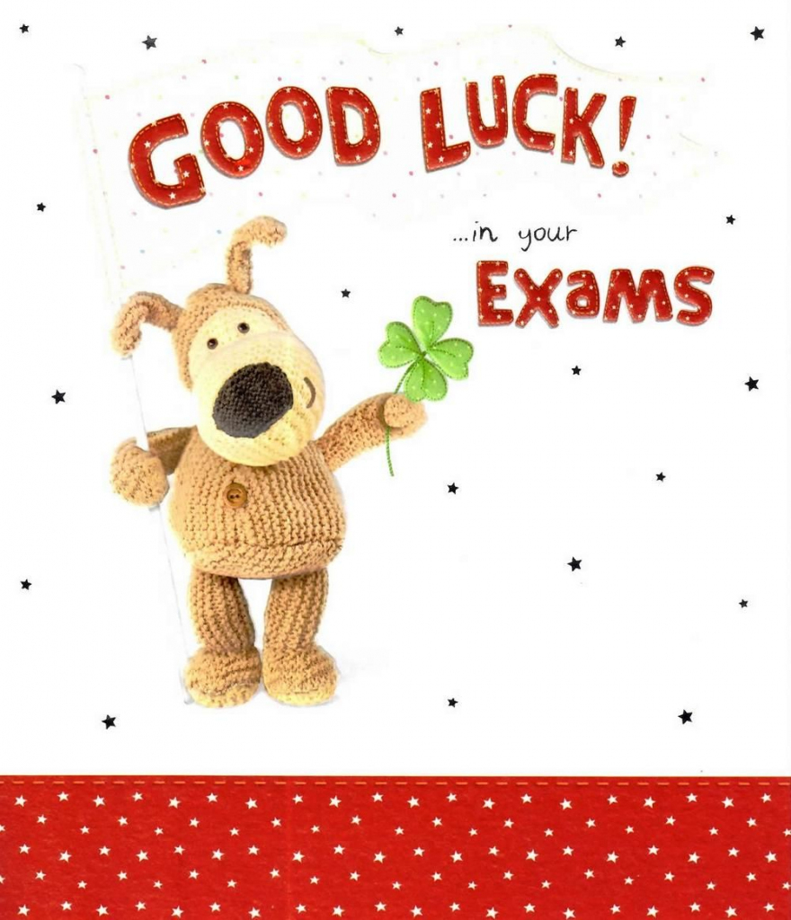 Boofle Good Luck In Your Exams Greeting Card | All The Best Cards | Printable Good Luck Cards For Exams