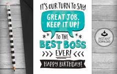 Boss's Day Printable Cards