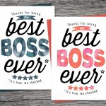 Boss's Day Card Thanks For Being The Best Boss Ever | Etsy | Bosses Day Cards Printable