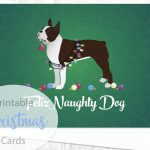 Boston Terrier   Brown   Dog Christmas Card From The Breed | Christmas Cards For Dogs Printable
