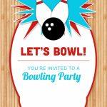 Bowling Party   Free Printable Birthday Invitation Template | Bowling Birthday Cards Printable