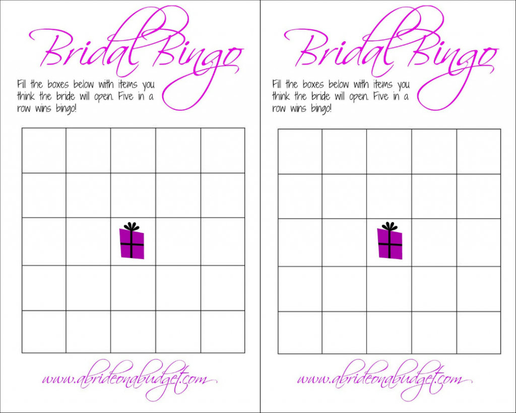 Bridal Bingo (And A Free Printable) | A Bride On A Budget | Printable Blank Bridal Shower Bingo Cards