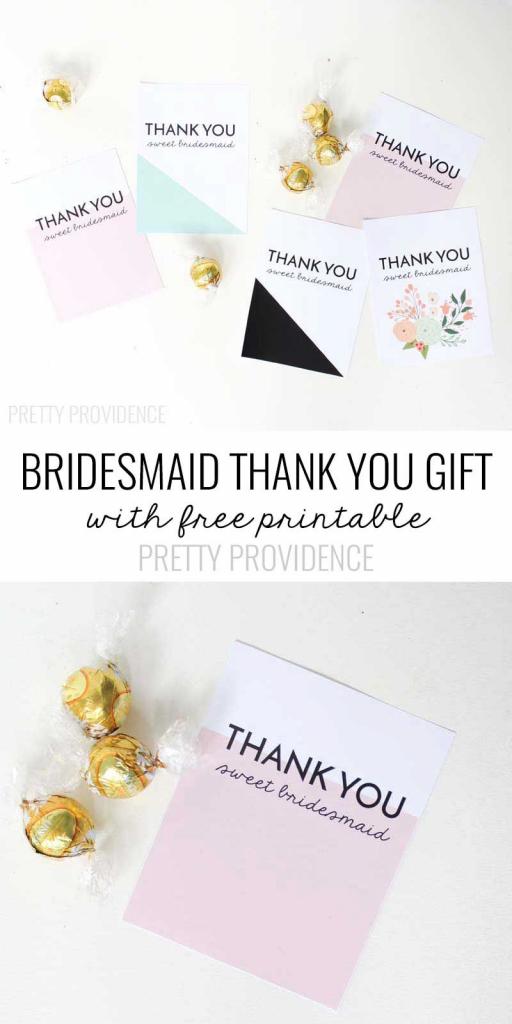 Bridesmaid Thank You Gift Printable | Michaels Weddings | Bridesmaid | Michaels Printable Gift Card