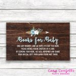 Bring A Book Instead Of A Card Baby Shower Invitation Insert, Baby | Please Bring A Book Instead Of A Card Printable