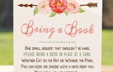 Please Bring A Book Instead Of A Card Printable