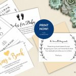 Bring A Book Instead Of Card (Free Printable!)   A Jubilee Day | Cards Sign Free Printable