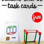 Building Shapes Stem Cards   The Stem Laboratory   Free Printable | Free Printable Kindergarten Task Cards