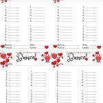 Bunco Free Printable Valentine's Fondue Champagne Score Sheet | Printable Bunco Score Cards Free