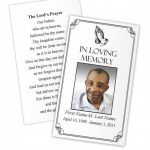 Business Card Photoshop Template Funeral Prayer Card Template Free | Free Printable Funeral Prayer Card Template