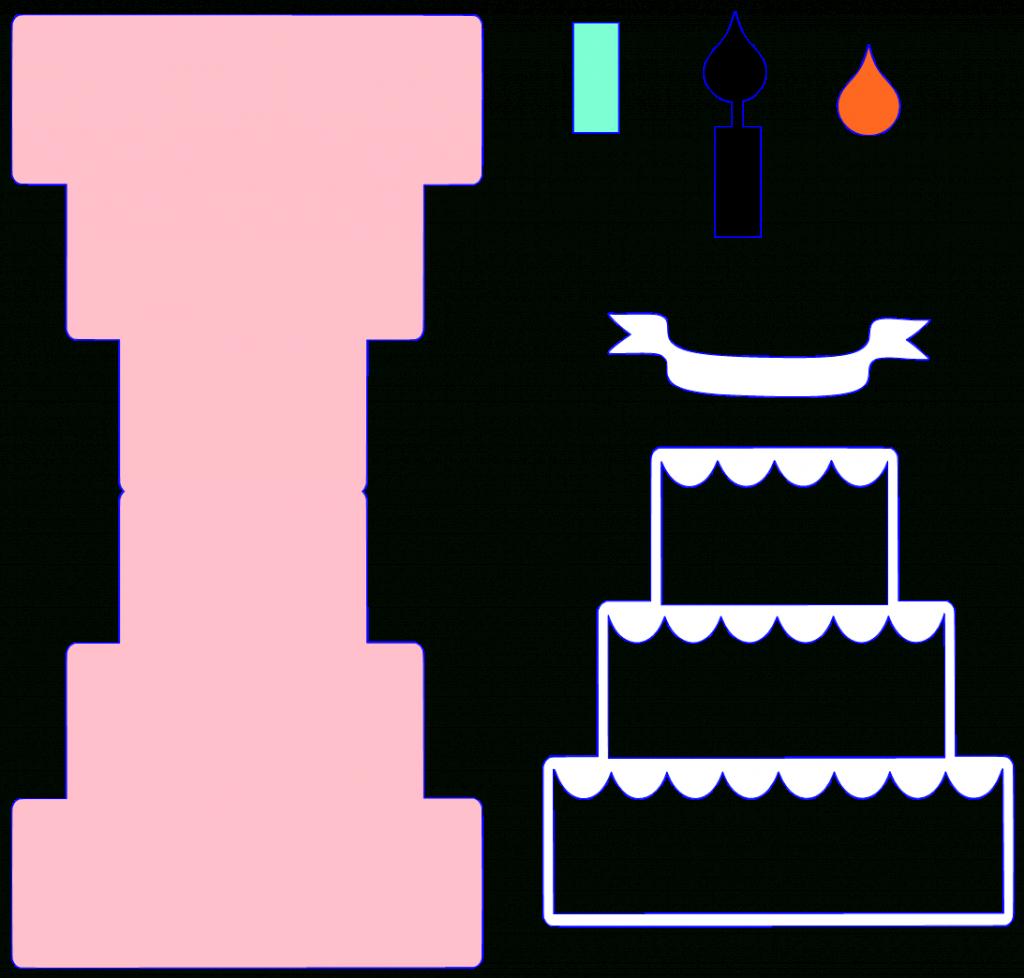 Cake Pop Up Birthday Card Printable Template | Projects To Try | Free Printable Pop Up Birthday Card Templates
