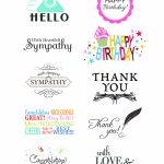 Card Creations, Vol. 11 Sentiments | Card Creations, Vol. 11 | Paper | Free Printable Greeting Card Sentiments