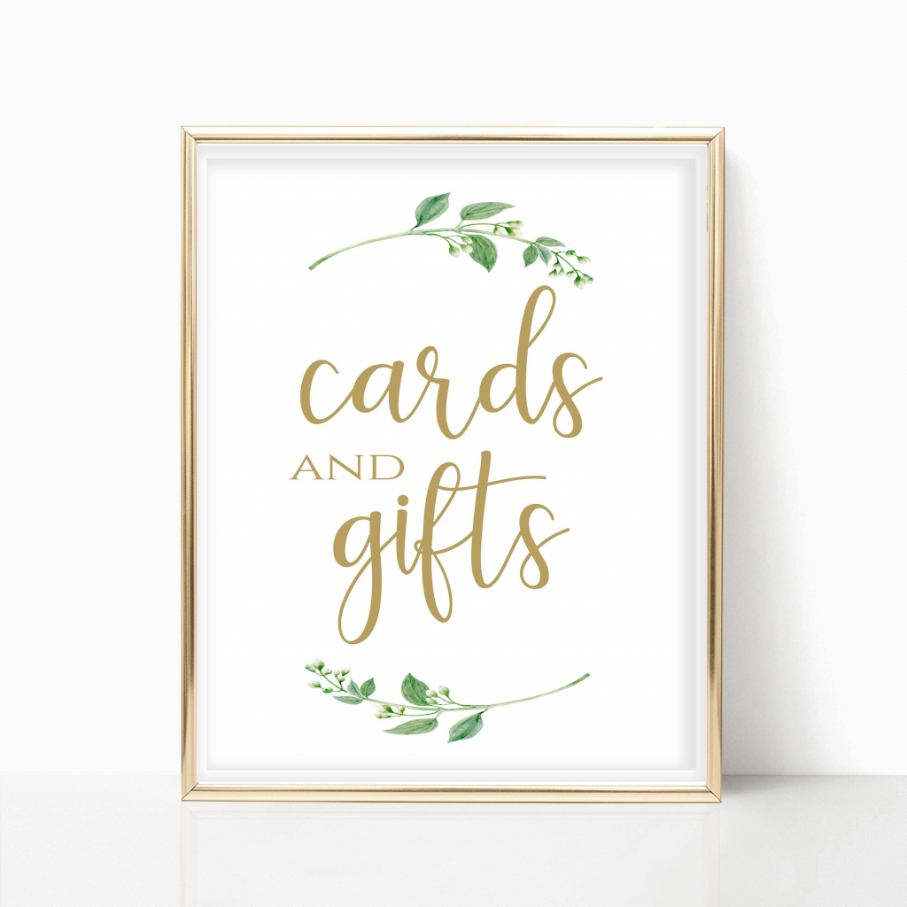 Cards And Gifts Printable Cards And Gifts Sign Printable Card | Etsy | Cards And Gifts Printable Sign