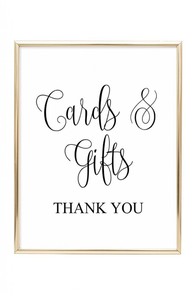Cards And Gifts Wedding Sign | Diy Wedding | Wedding Signs, Wedding | Cards And Gifts Printable Sign