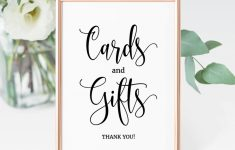 Cards And Gifts Printable Sign