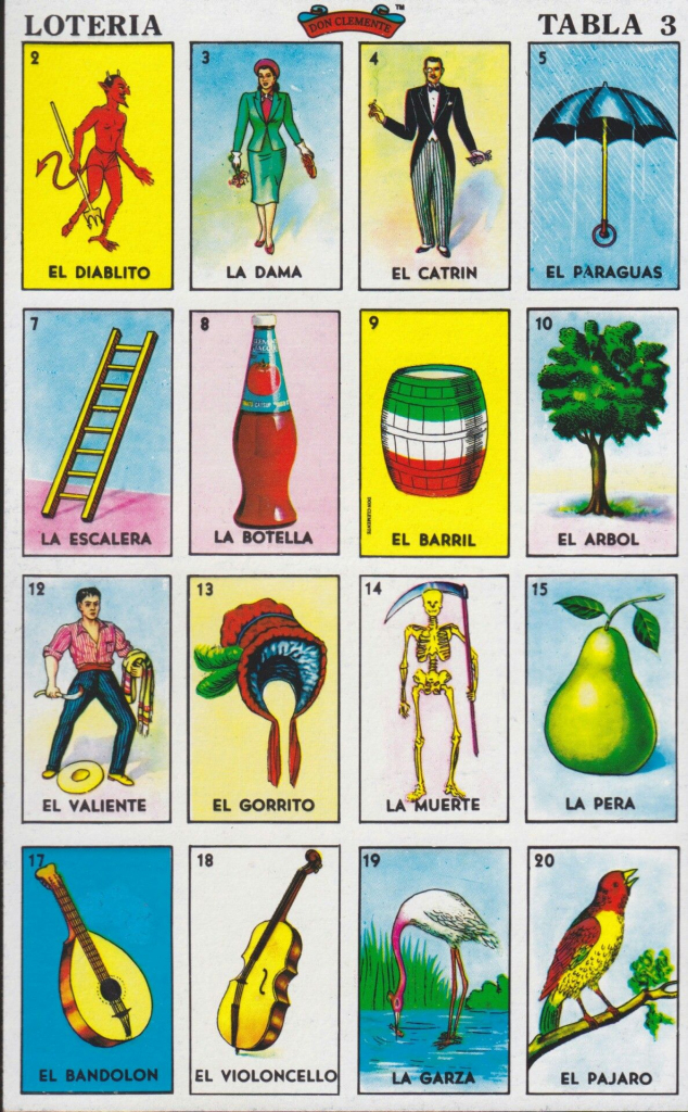 Carta De La Lotería Mexicana | Fiesta Mexicana Tema | Mexico | Mexican Loteria Cards Printable