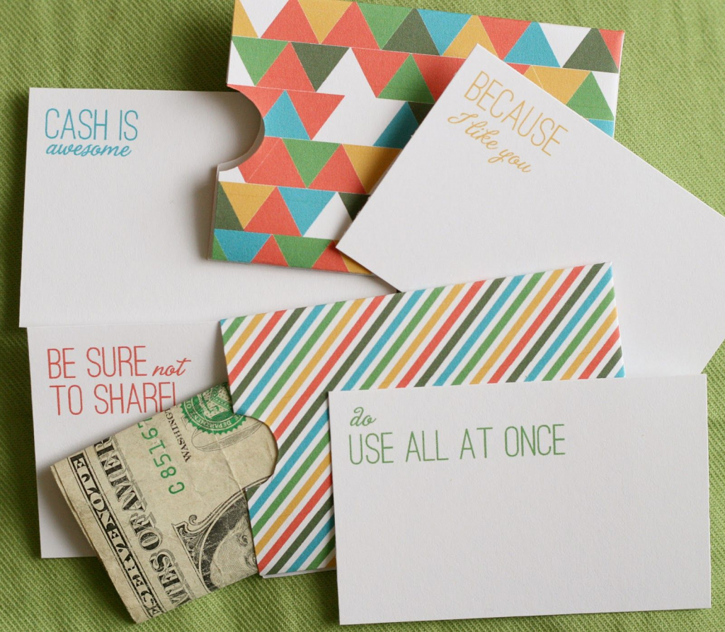 Cash Holder Cards - Free Printable #gift | ⎙ Print Me For Free | Free Printable Money Cards For Birthdays