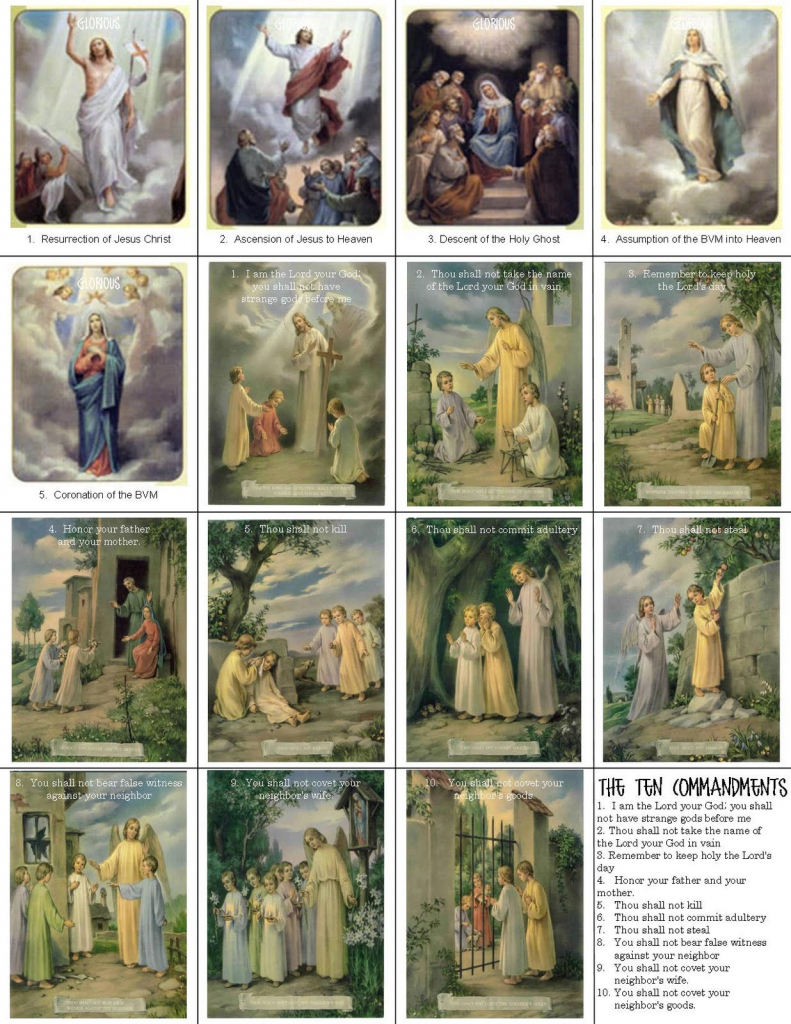 Catholic Prayer Cards | Printable Catholic Prayer Cards