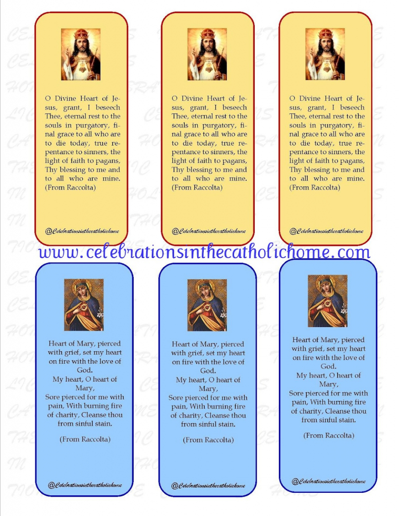 Celebrations In The Catholic Home: Free Printable Prayer Card To The | Printable Catholic Prayer Cards