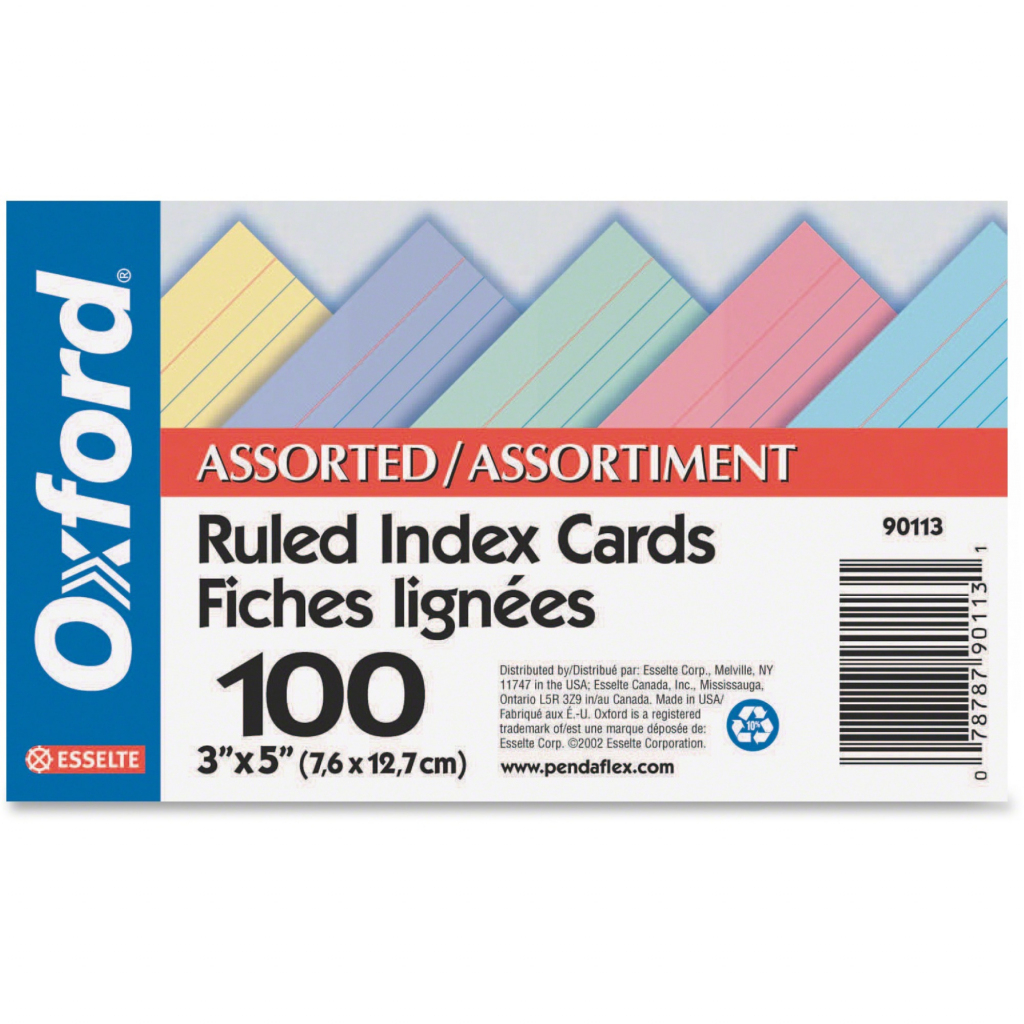 Challenge Industries Ltd. :: Office Supplies :: Paper & Pads | Printable Index Cards 3X5