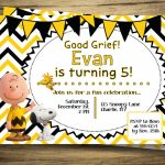 Charlie Brown & Snoopy Birthday Party Invitation Peanuts | Etsy | Snoopy Printable Birthday Cards