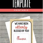 Chick Fil A Gift Card Holder: Instant Download | Chick Fil A Printable Gift Card