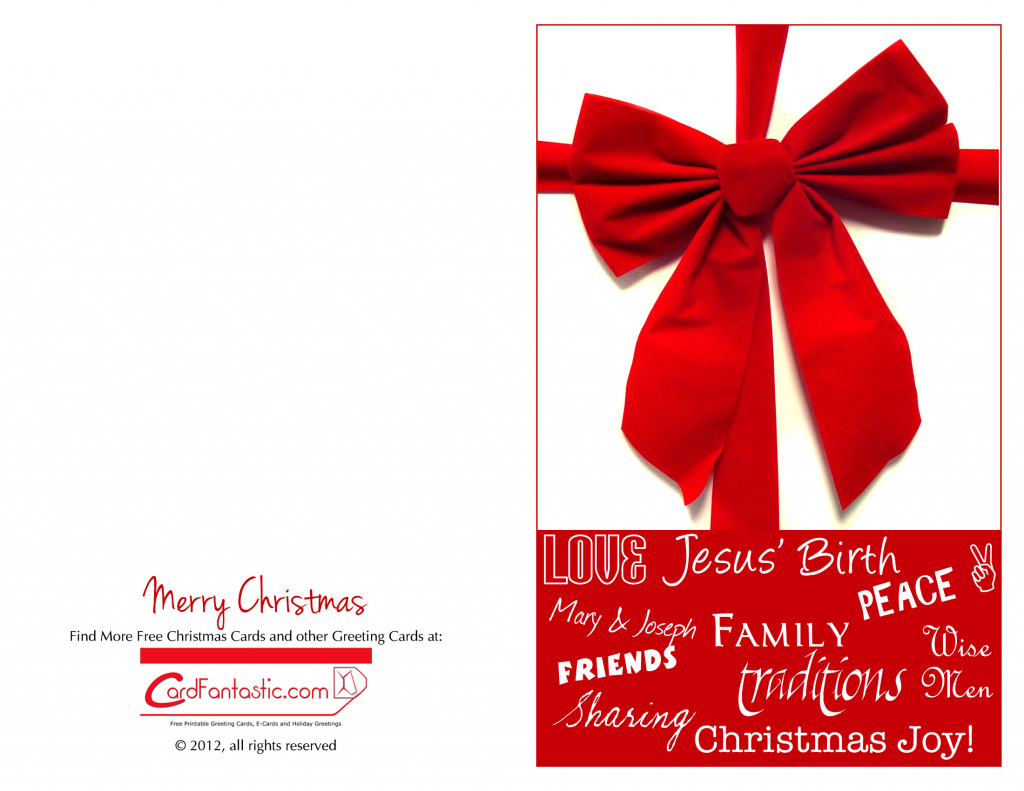 Chirstmas Cards - Download Free Greeting Cards And E-Cards | Free Printable Quarter Fold Christmas Cards