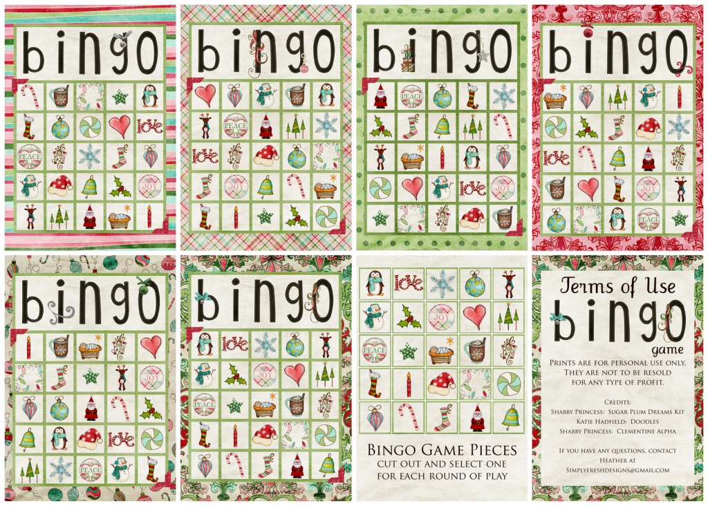 Christmas Bingo Game - Simply Fresh Designs | Vocabulary Bingo Cards Printable