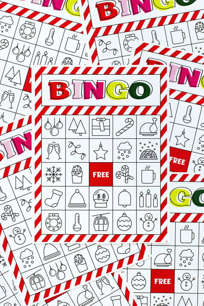 Christmas Bingo Printable For Large Groups & Small • A Subtle Revelry | Free Printable Bingo Cards For Large Groups