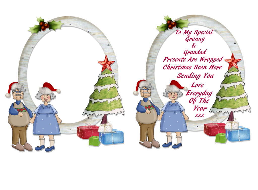 Christmas Cards For Grandparents Free Printable – Festival Collections | Christmas Cards For Grandparents Free Printable