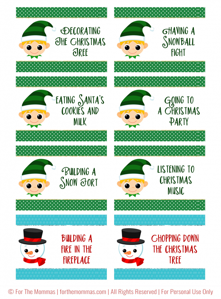 Christmas Charades Free Printable - Start A New Holiday Tradition - Ftm | Free Printable Christmas Charades Cards