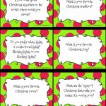 Christmas Conversation Starters And Writing Prompts | Free Writing | Printable Conversation Cards For Adults