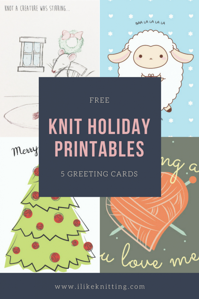 Christmas! Free Printable Knitting Greeting Cards - I Like Knitting | Christmas Cards For Loved Ones Printables
