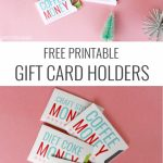 Christmas Gift Card Holders   Free Printable | Holidays | Christmas | Free Printable Christmas Money Holder Cards