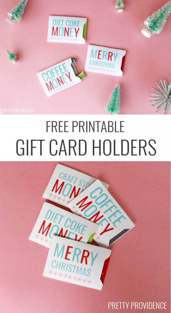 Christmas Gift Card Holders - Free Printable | Holidays | Christmas | Free Printable Christmas Money Holder Cards