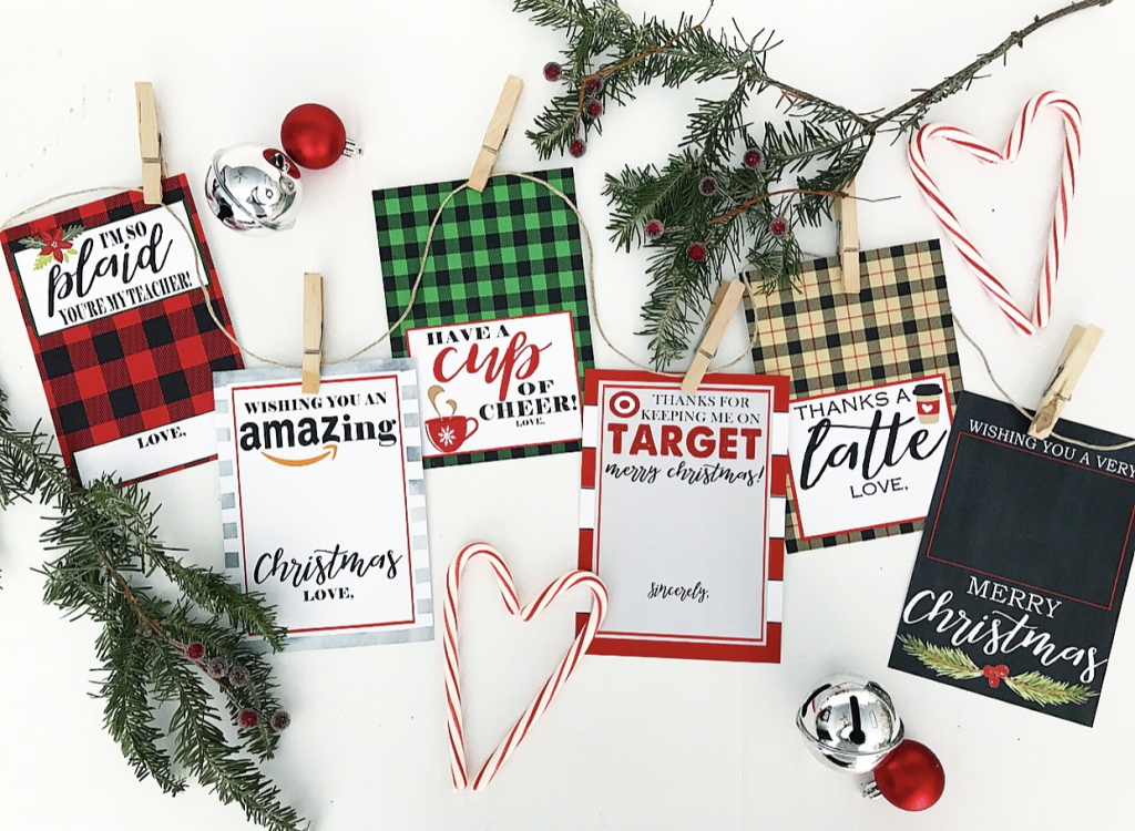 Christmas Gift Card Holer Free Printables - Crisp Collective | Christmas Cards For Loved Ones Printables