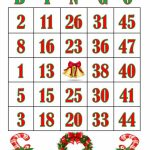Christmas/printable Cards/bingo Cards/bingo/jingle | Etsy | Printable Bingo Cards 1 20