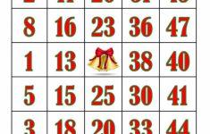 Printable Bingo Cards 1 20