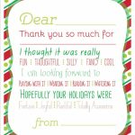 Christmas Printable Thank You Cards For Kids | Printable Christmas Thank You Cards