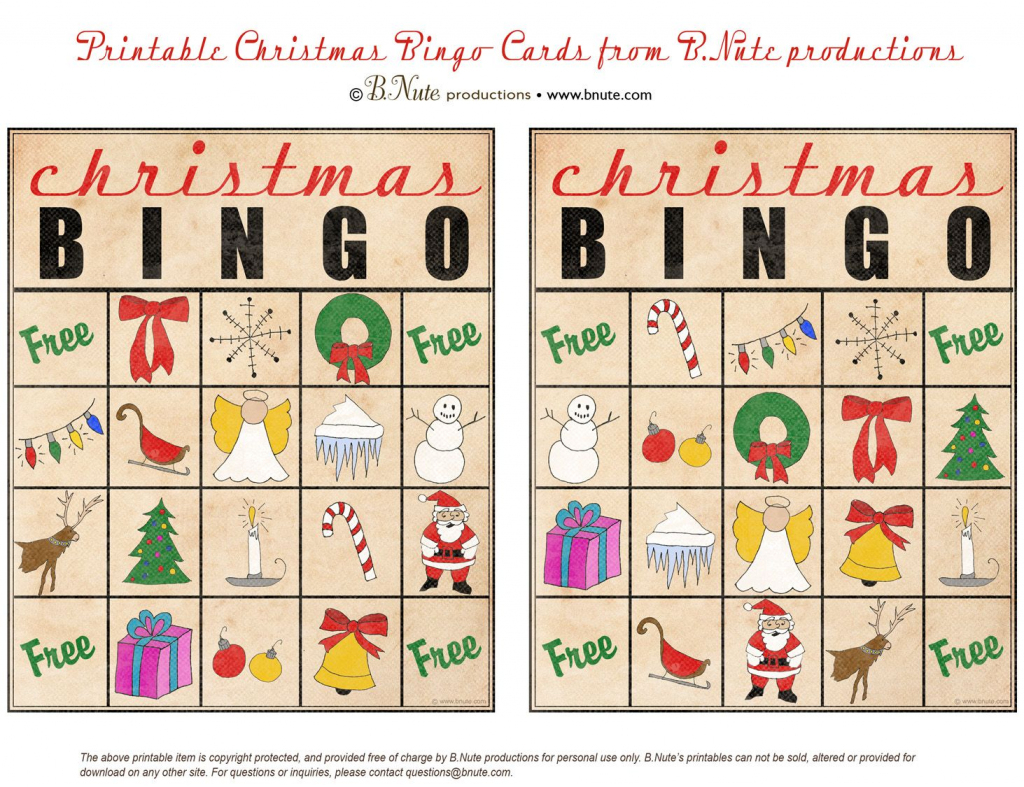 Christmas Printables Images | Free Printable Christmas Bingo Cards | Free Printable Christmas Bingo Cards