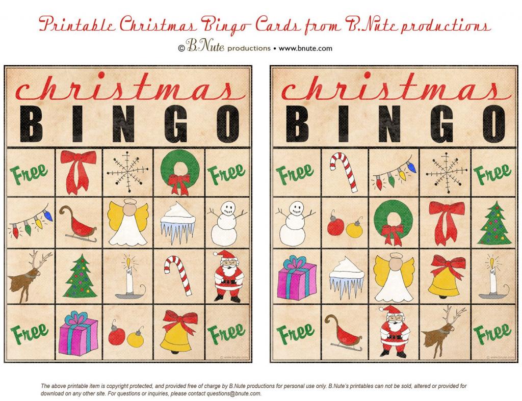 Christmas Printables Images | Free Printable Christmas Bingo Cards | Kid Christmas Bingo Card Printables