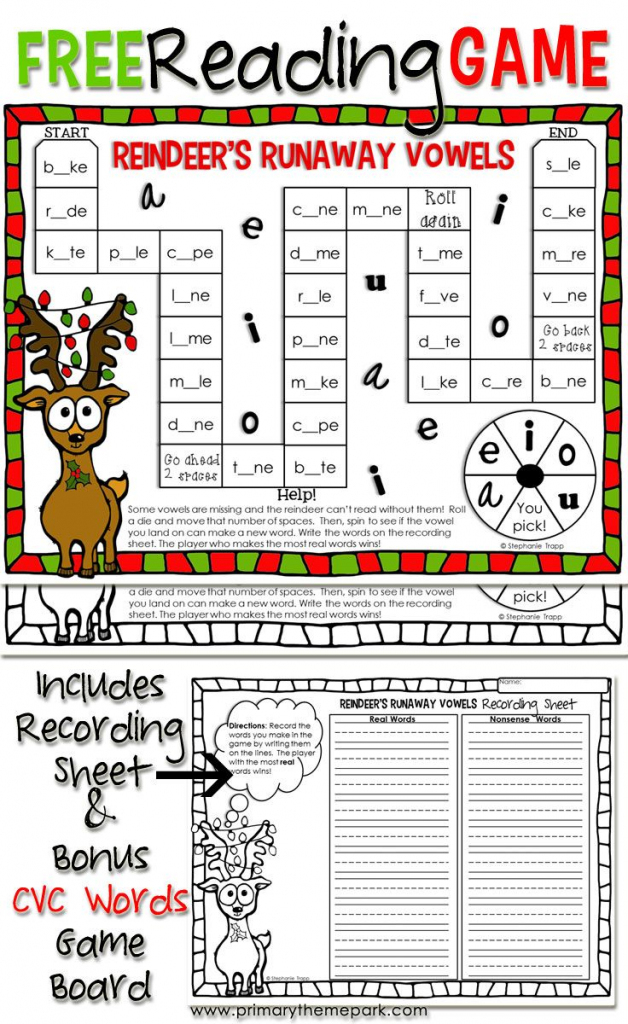 Christmas Reading Game Printable | Educational Finds And Teaching | Bang Card Game Printable