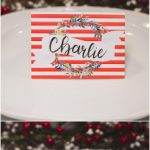 Christmas Table Place Cards { Free Printable}   Six Clever Sisters | Christmas Table Name Cards Free Printable