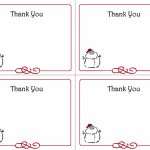 Christmas Thank You Card Templates   Kleo.bergdorfbib.co | Printable Christmas Thank You Cards