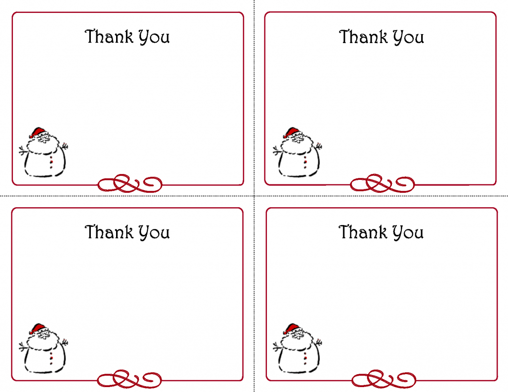 Christmas Thank You Card Templates - Kleo.bergdorfbib.co | Printable Christmas Thank You Cards