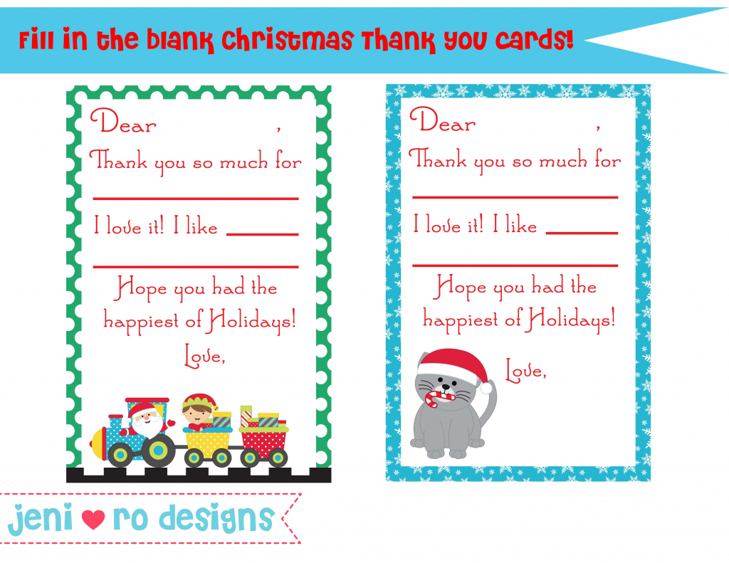 Christmas Thank You Notes For Kids – Free Printable! | Christmas Thank You Cards Printable Free