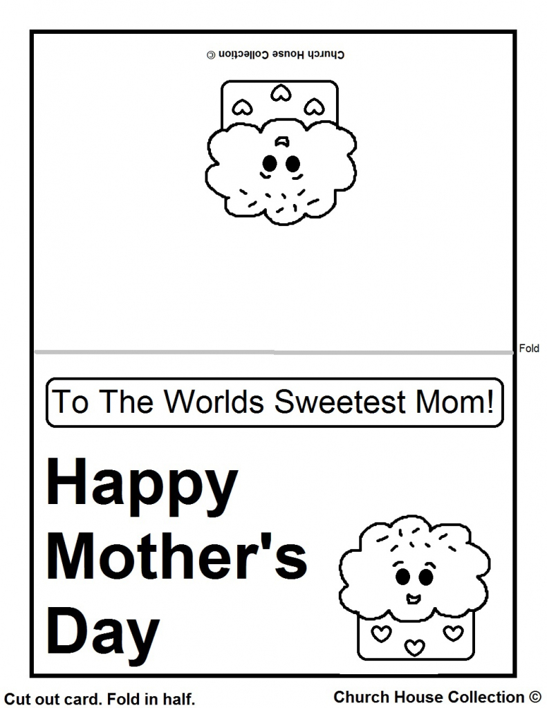 Church House Collection Blog: Printable Mother's Day Cards For Kids | Printable Mothers Day Cards For Kids To Color