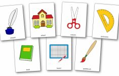 Classroom Objects Flashcards – Free Printable Flashcards – Speak And | Free Printable Flash Cards