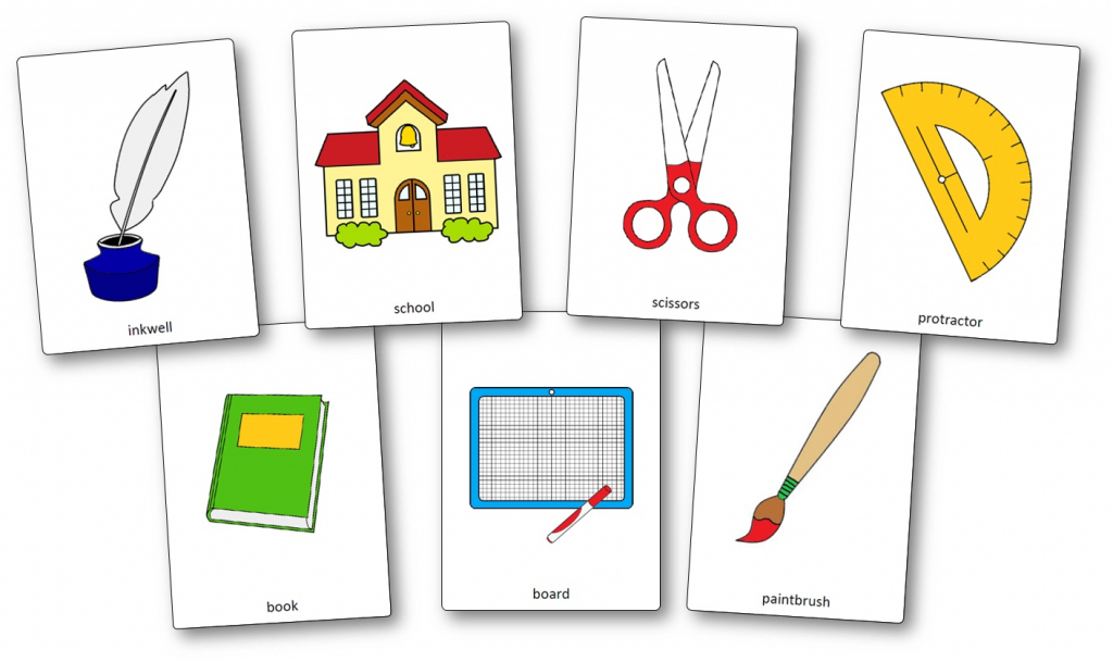 Classroom Objects Flashcards - Free Printable Flashcards - Speak And | Free Printable Flash Cards