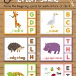 Clip Cards Matching Game Of Beginning Letter Sound G, H, I For | Animal Matching Cards Printable