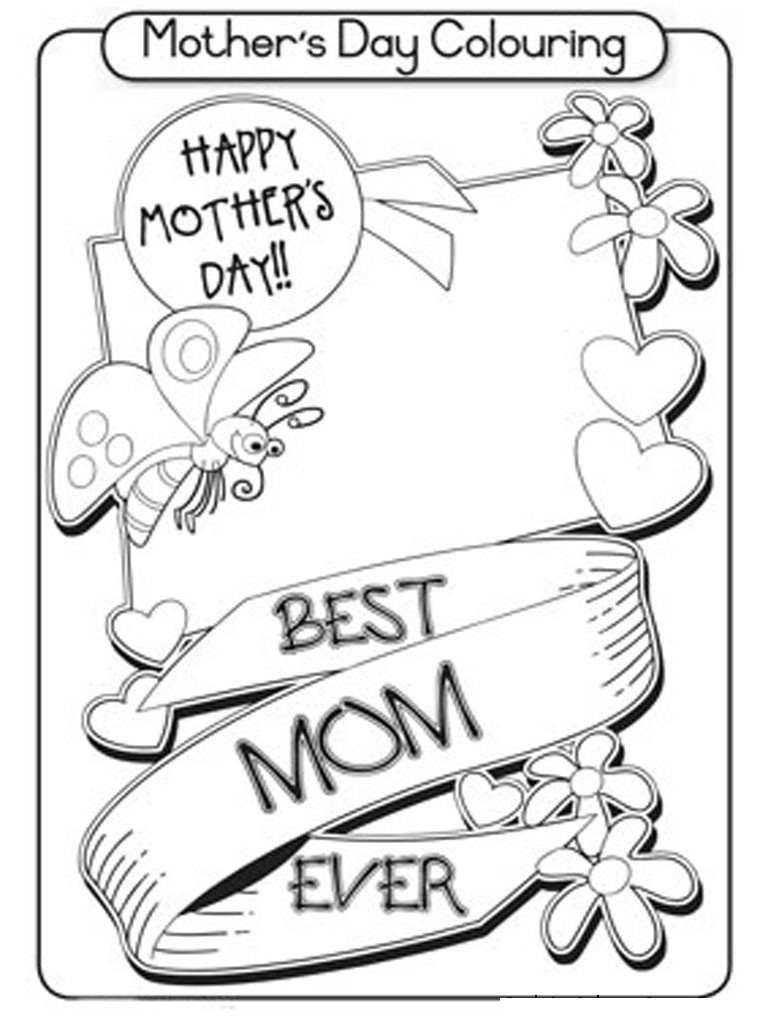 Coloring Page ~ Free Printable Mothers Day Colorings Cards Mothers | Free Printable Mothers Day Cards To Color